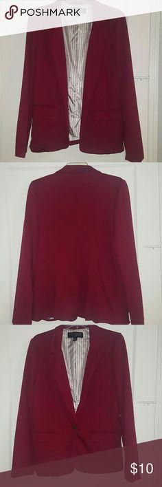 Love culture blazer Burgundy blazer Love Culture Jackets & Coats Blazers