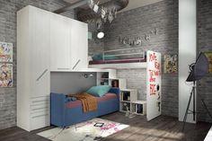 Youth room boys With loft bed Childrens Bedroom Furniture, Diy Home Decor Bedroom, Bedroom Loft, Bedroom Sets, Adult Loft Bed, Loft Beds For Teens, Modern Teen Room, Modern Loft, Custom Bunk Beds