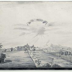 Gezicht op het fort van Salatiga, A. de Nelly (possibly), 1762 - 1783 - Rijksmuseum