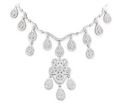 The Lockwood Necklace by Adorn Brides available at http://www.adorn.com/chandelier-diamond-necklace-o88.aspx#    save 10% use promo code: pinteres