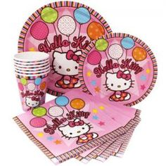 Hello Kitty Birthday Party Supply Set-Napkins Plates Cups by vision2win