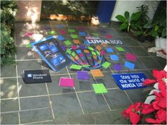 This floor graphic was designed and installed in India for Nokia to promote it's model - Nokia Lumia Floor Graphics, Anamorphic, Floor Stickers, Signage, Promotion, India, Flooring, 3d, Prints