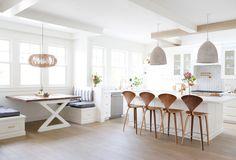 Kitchen Dining Room Flooring Ideas 8 Home Decoration Ideas Kitchen Flooring Options, Best Flooring For Kitchen, New Kitchen, Kitchen Decor, Flooring Ideas, Kitchen Seating, Banquette Seating, Kitchen Units, Kitchen Ideas