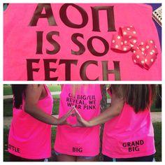 My shirts I had made for big little reveal! Aren't they presh? Alpha Omicron Pi, Zeta Tau Alpha, Gamma Phi Beta, Alpha Chi Omega, Sigma Kappa, Kappa Delta, Sorority Secrets, Sorority Little, Big Little Shirts