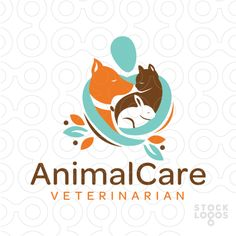 Logo Sold: A abstract figure with their arms wrapping around and hugging the animals creating a heart shape natural design. Logo Animal, T Shirt Logo Design, Animal Line Drawings, Dog Icon, Logos, Japan Logo, Dog Logo, Care Logo, Web Design