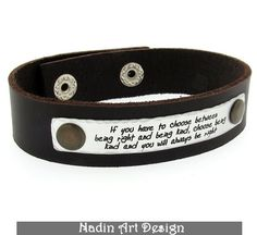 Personalized Quote Bracelet for Men / Gift for Him from NadinArtDesign by DaWanda.com