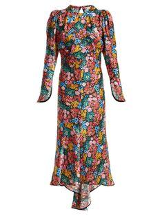 Floral-print bias-cut silk-satin dress   Attico   MATCHESFASHION.COM US