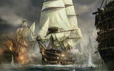 Napoleon: Total War, Video Games, Ship, Concept Art, War, Sailing Ship HD Wallpaper Desktop Background