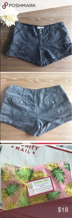 """OLD NAVY GRAY SUMMER SHORTS 💗Condition: EUC, No flaws, no rips, holes or stains. Length: 12"""". Super comfortable and soft. Gray dark color.  💗Smoke free home/Pet hair free 💗No trades, No returns. No modeling  💗Shipping next day. Beautiful package! 💗I LOVE OFFERS, offer me! 💗ALL ITEMS ARE OWNED BY ME. NOT FROM THRIFT STORES 💗All transactions video recorded to ensure quality.  💗Ask all questions before buying #46 Old Navy Shorts"""