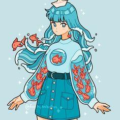 how to draw kawaii Arte Do Kawaii, Kawaii Art, Cute Kawaii Girl, Cartoon Art Styles, Cute Art Styles, Different Art Styles, Arte Copic, Art Style Challenge, Japon Illustration