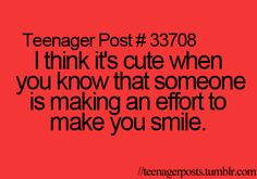 Teenager Post #33708 ~ I think it's cute when you know that someone is making an…