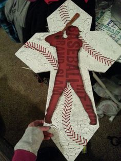 Baseball Cross on Etsy, $84.50