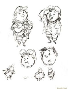 Living Lines Library: Up (2009) - Character Design