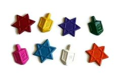 Check out this item in my Etsy shop https://www.etsy.com/listing/256084374/hanukkah-crayons-set-of-8-star-of-david