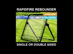 RapidFire Soccer Rebound Net - YouTube Soccer Quotes, Rebounding, Training, Football, Board, Youtube, Blog, Soccer, American Football