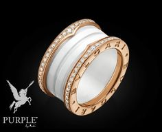 check this bzero1 4band ring in 18 kt pink gold and white
