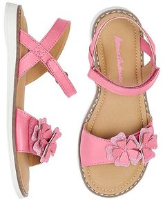 Girls Katarina Flower Sandals By Hanna Baby Girl Sandals, Kids Sandals, Baby Girl Shoes, Kid Shoes, Girls Shoes, Me Too Shoes, Girls Fashion Clothes, Baby Girl Fashion, Fashion Shoes