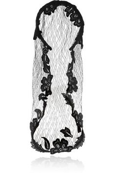 Satin-twill and lace veil #accessories #covetme #dolce&gabbana