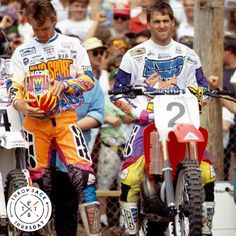 A throwback with Jeff Stanton & Damon Bradshaw in the early 90's. #throwbackthursday #tbt #axoracing
