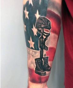 Soldier memorial tattoo and drawing tattoos i did for Fallen soldier tattoo