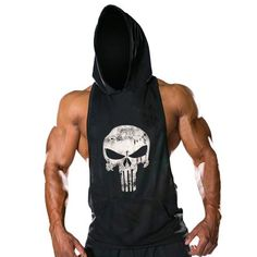 New Mens Sleeveless Hoodie T-Shirt Hooded Tank Top Cotton Hoodies Tee Shirt Vest Men Sweatshirts Gym Fitness Gasp Sport Stringer - World Class Life - 10