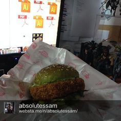 A huge THANK YOU to Essam Fikri for sharing this picture of his Yoda Burger or shrimp burger ♡ It's always good to take a break from work and have a private burgerlicious moment :)   Will we make Essam a very happy man and serve Yoda Burgers at our first pop up restaurant next Saturday, 6th December 2014 at Monte's by LYN at Bangsar Shopping Centre? Full pop up menu to be shared soon.  Save the date!