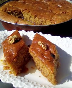 Greek Sweets, Greek Desserts, Greek Cooking, Greek Dishes, Sweets Cake, Almond Milk, French Toast, Food And Drink, Cooking Recipes