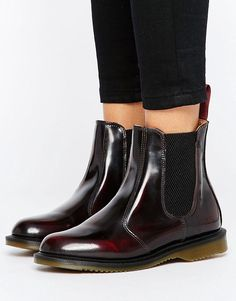 9cfb97da0fe Dr Martens Kensington Flora Burgundy Chelsea Boots - Red Dr Martens Chelsea  Boot