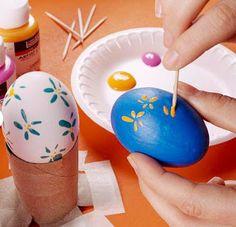 Como hacer bonitos huevos de pascua ~ Solountip.com