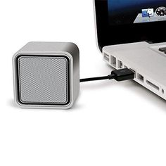 iLuv Compact USB-powered stereo speakers for Mac and PC laptop-Silver