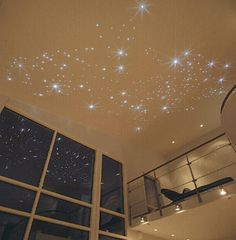 ceiling clouds with fiber optic lights - Google Search