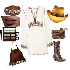 Cowgirl by leoposadas on Polyvore featuring moda, Talitha, Ariat, Ralph Lauren, Bling Jewelry and LORAC