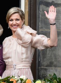 Abdication day fashion for 3 Crown Princesses who became Queen -  Maxima of the Netherlands