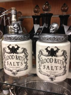 Goth bath salts jar