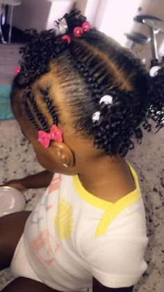 Little Mixed Girl Hairstyles, Black Baby Hairstyles, Toddler Braided Hairstyles, Kids Curly Hairstyles, Natural Hairstyles For Kids, 4c Hair, Curly Hair Styles, Natural Hair Styles, Hair Kids