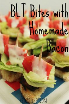 BLT Bites with Homemade Bacon 1