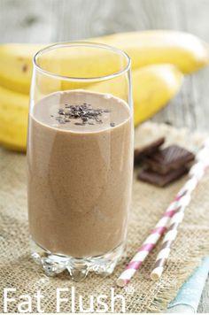 Banana Split Smoothie- Official Fat Flush Recipe