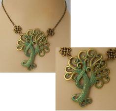 Gold & Green Celtic Tree of Life Pendant Necklace Handmade Adjustable Fashion #Handmade http://www.ebay.com/itm/Gold-amp-Green-Celtic-Tree-of-Life-Pendant-Necklace-Handmade-Adjustable-Fashion-/152412939161?ssPageName=STRK:MESE:IT