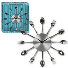 fork/spoon clock