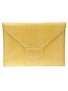 OSCAR DE LA RENTA Flat envelope clutch