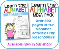 Learn the Alphabet Pack for Preschoolers