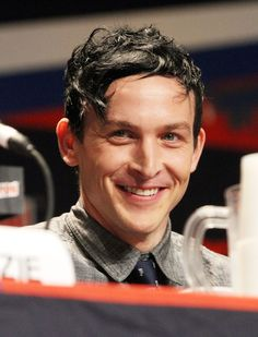 """Robin Lord Taylor attends the """"Gotham"""" Panel at 2014 New York Comic Con - Day 4 at Jacob Javitz Center on October 12, 2014 in New York City."""