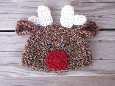 CUTE  http://www.etsy.com/listing/116845743/crochet-newborn-reindeer-hat-christmas