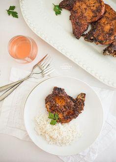 Receta Fácil de Chuleta de Cerdo en Salsa Agridulce de Miel y Mostaza/ Easy Pork Chops with Honey and Mustard Recipe