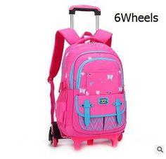 3c8e709e281b kids Rolling Backpack for School Kids Trolley School Bag for Girl Trolley  Wheeled Backpack Travel trolley luggage bags On wheels