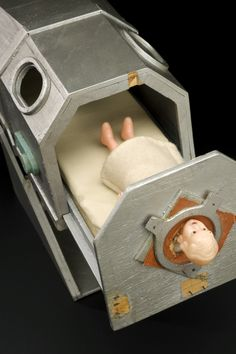 """zygoma: """" Teaching doll showing an iron lung, England, This plastic doll in its own model iron lung was made in order to show child polio patients and their family the treatment the child would receive. An iron lung assists a patient whose. Medical Science, Medical Care, Iron Lung, Science Museum London, Respiratory Therapy, Plastic Doll, Vintage Medical, Bizarre, Childhood"""