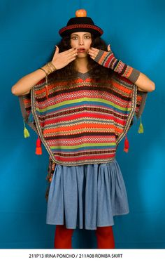 CarolinaK - Inspiration for pattern and colour for knit poncho...also the tassels
