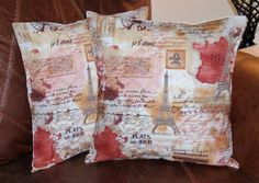 Throw Pillow Covers  16x16 Set of 2 sewn with by PersnicketyHome, $26.00