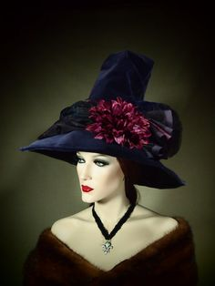 Couture Witch Hat Evening Spell 21 OOAK by EvercrumblyAndWitch, $89.00