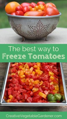 time preserving your tomatoes with this quick hack Skip the canning and save time by freezing your tomatoes instead.Skip the canning and save time by freezing your tomatoes instead. Freezing Tomatoes, Preserving Tomatoes, Freezing Vegetables, Fruits And Veggies, Preserving Food, Grow Tomatoes, Cherry Tomatoes, Tomato Sauce Recipe, Sauce Recipes